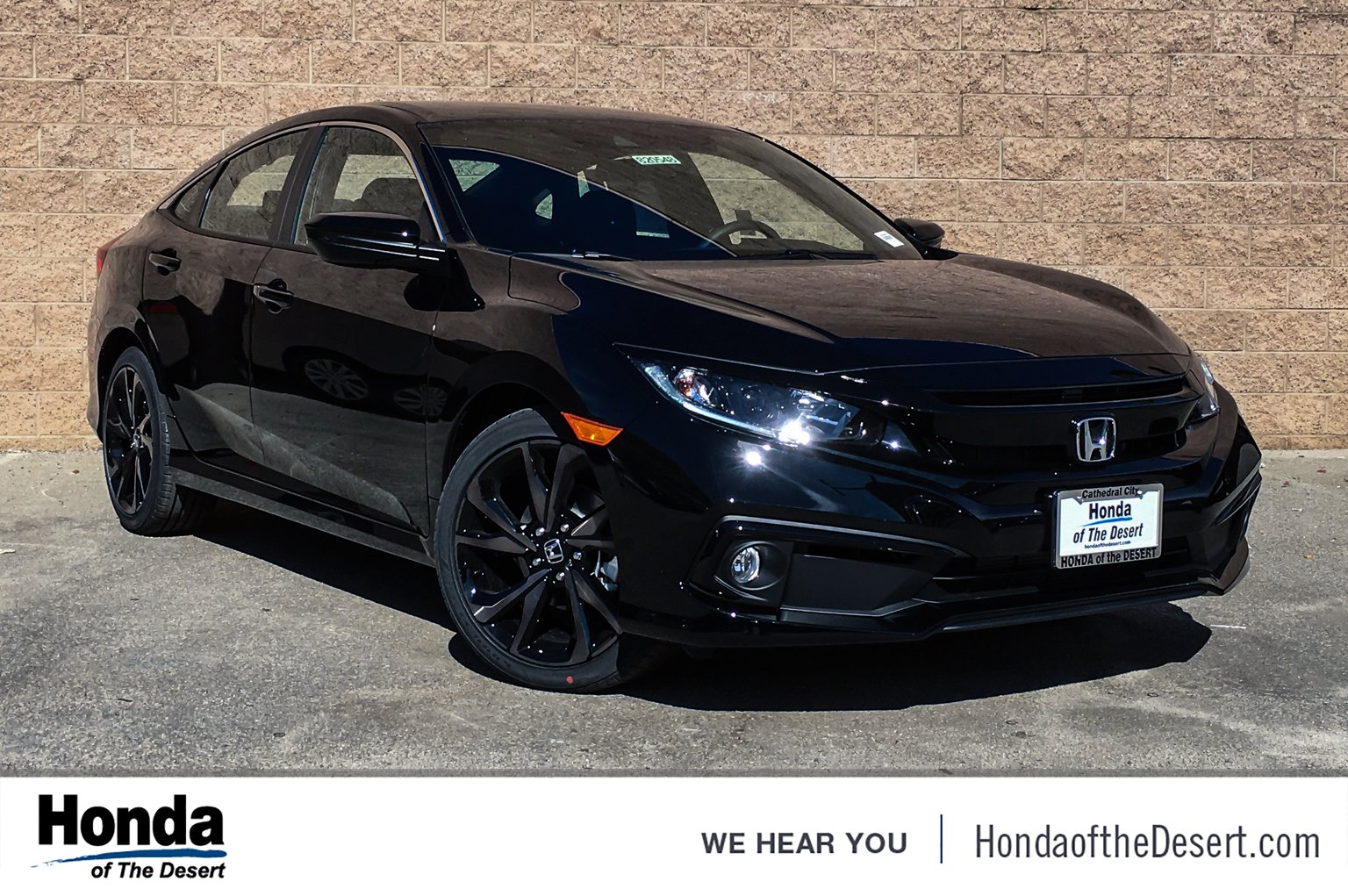 Honda Civic New >> New 2019 Honda Civic Sedan Sport 4dr Car In Cathedral City 820664
