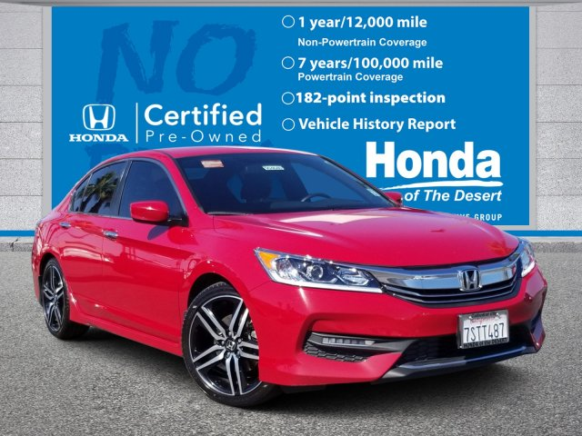 Honda Accord Official Site >> Certified Pre Owned 2016 Honda Accord Sedan Sport Fwd 4dr Car