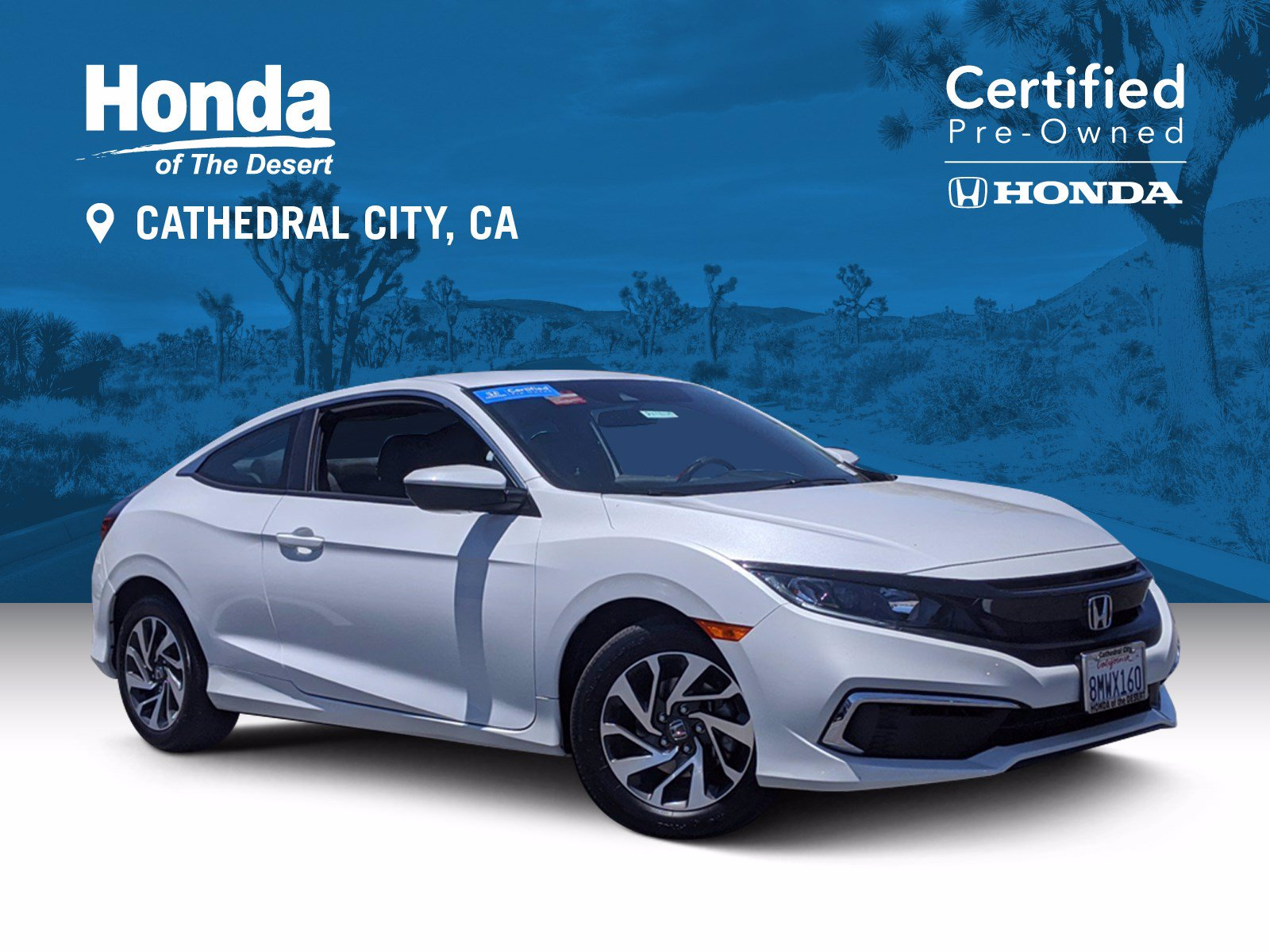 Certified Pre-Owned 2019 Honda Civic Coupe LX