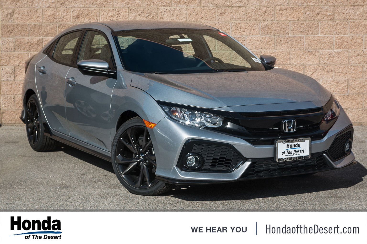 New 2019 Honda Civic Hatchback Sport Hatchback In Cathedral City