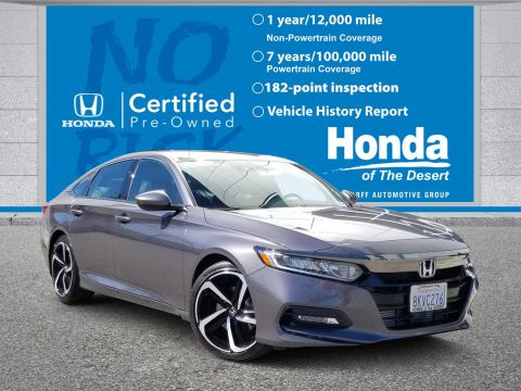 Certified Pre-Owned 2019 Honda Accord Sedan Sport 1.5T